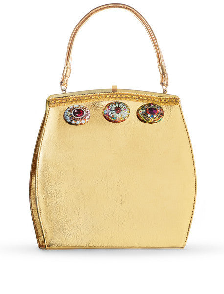 "Gold Structured Handbag <br> ""Mod Luxe"""