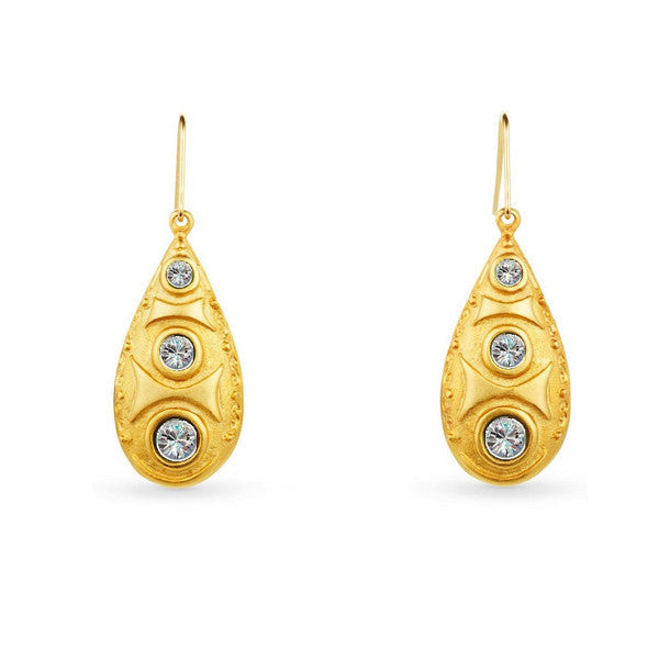 "Teardrop Gold Earrings <br> ""Valentina"""