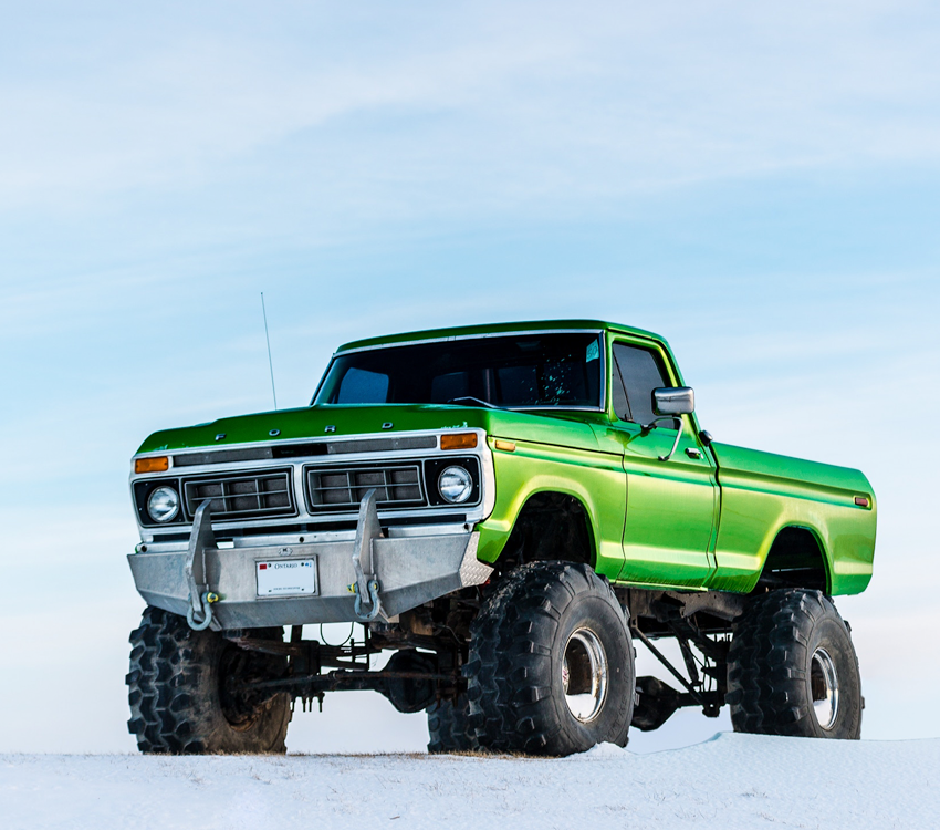 Green Lifted Truck