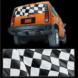 Checkered Flag - Truck or SUV Rear Window Decal Graphic (10005) Glasscapes 65 x 22 - EZ Wheeler