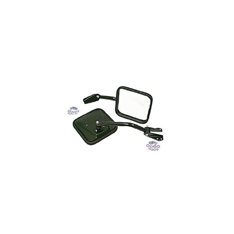 Rugged Ridge - Side Mirrors with Convex Glass - 55-86 Jeep CJ Models (11001.03) - EZ Wheeler