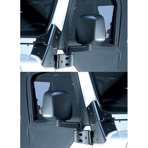 Door Mirror Kit, Black; 87-06 Jeep Wrangler - EZ Wheeler