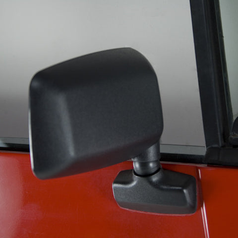 Door Mirror, Black, Right Side; 87-95 Jeep Wrangler YJ - EZ Wheeler