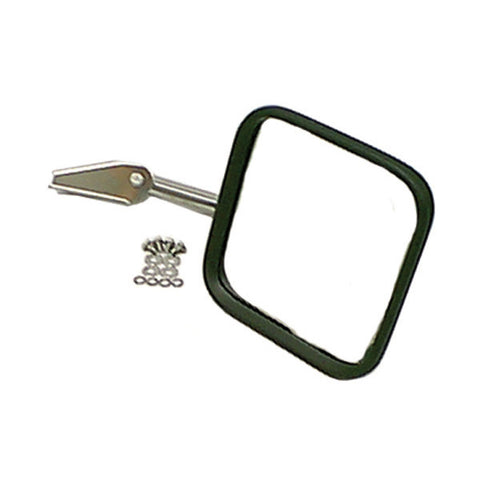 CJ-Style Mirror Head and Arm, Chrome, Right Side; 55-86 Jeep CJ Models - EZ Wheeler
