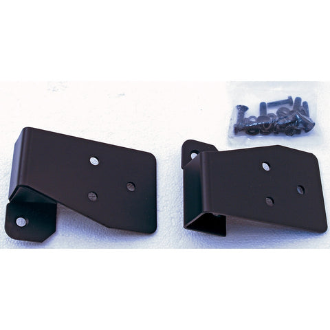 Mirror Relocation Brackets, Black; 03-06 Jeep Wrangler TJ - EZ Wheeler