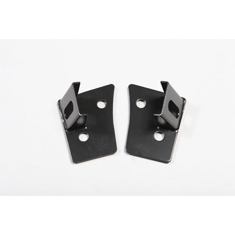 Rugged Ridge - Windshield Auxiliary Light Mounting Brackets - 07-17 Jeep Wrangler JK (11027.03) - EZ Wheeler