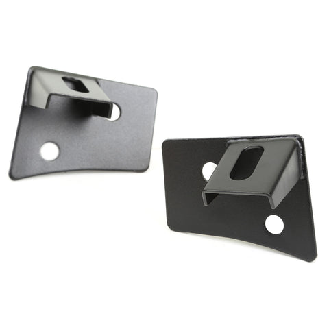 Rugged Ridge - Windshield Auxiliary Light Brackets Textured Black - 07-17 Jeep Wrangler JK (11027.04) - EZ Wheeler