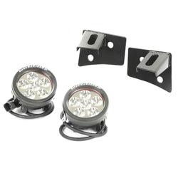 Rugged Ridge - Windshield Bracket LED Kit - 07-17 Jeep Wrangler JK (11027.11) - EZ Wheeler