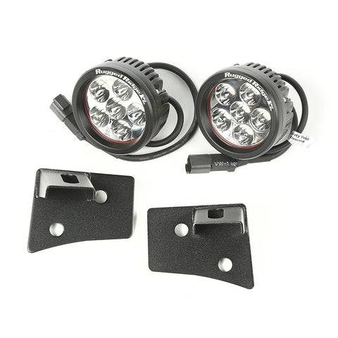 Rugged Ridge - Windshield Bracket LED Kit - 07-17 Wrangler JK (11027.17) - EZ Wheeler