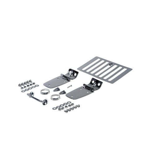 Complete Hood Kit, Stainless Steel; 98-06 Jeep Wrangler TJ - EZ Wheeler