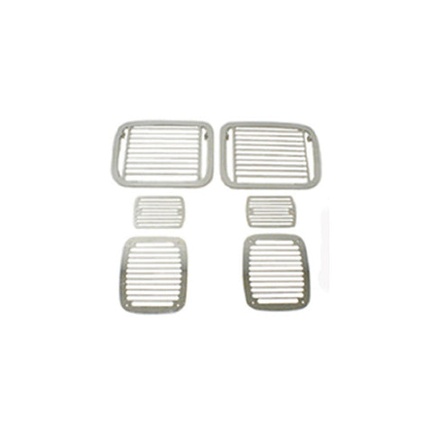 Rugged Ridge - Stone Guard Set - 87-95 Jeep Wrangler YJ (11102.04) - EZ Wheeler