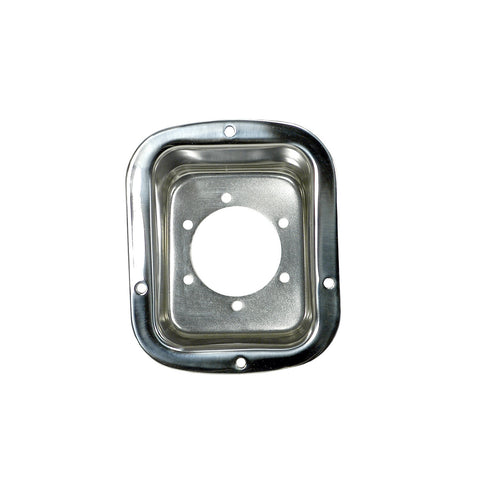 Fuel Filler Bezel, Stainless Steel; 76-95 Jeep CJ/Wrangler YJ - EZ Wheeler