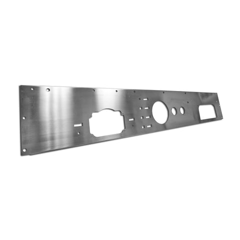 Dash Panel, Holes, Stainless Steel; 76-86 Jeep CJ Models - EZ Wheeler