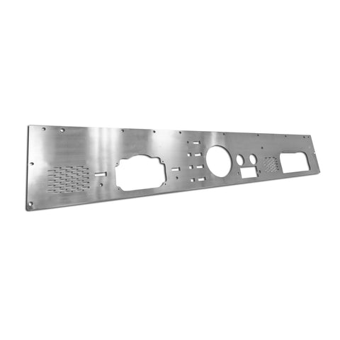 Dash Panel with Pre-Cut Holes, Stainless Steel; 76-86 Jeep CJ Models - EZ Wheeler