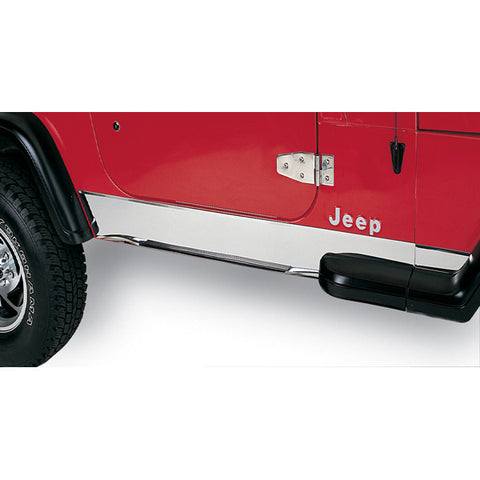 Rugged Ridge - Rocker Panel Cover - 87-95 Jeep Wrangler YJ (11145.01) - EZ Wheeler
