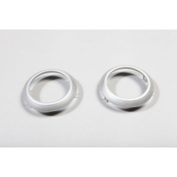 AC Vent Trim Rings, Brushed Silver; 07-10 Jeep Wrangler JK - EZ Wheeler