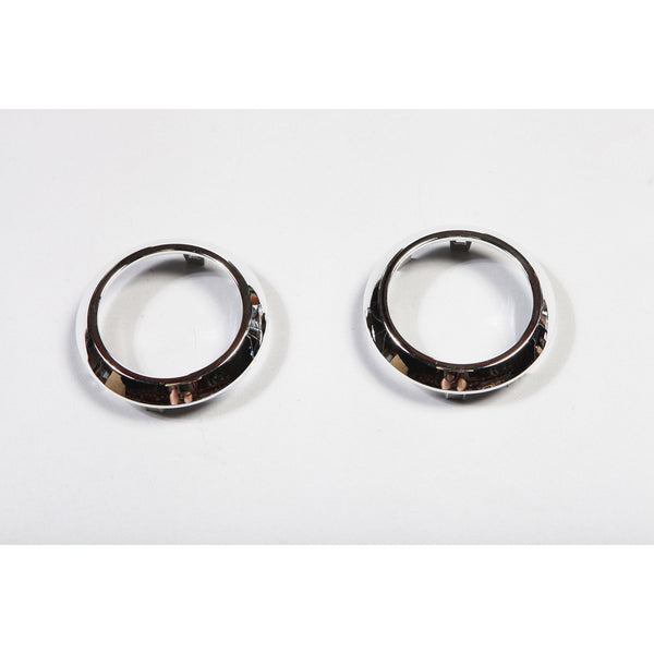 AC Vent Trim Rings, Chrome; 07-10 Jeep Wrangler JK - EZ Wheeler
