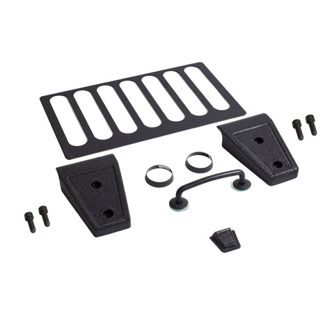 Hood Dress Up Kit, Textured Black; 07-12 Jeep Wrangler JK - EZ Wheeler