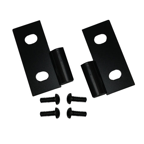Lower Door Hinge Brackets, Black; 76-06 Jeep CJ/Wrangler YJ/TJ - EZ Wheeler