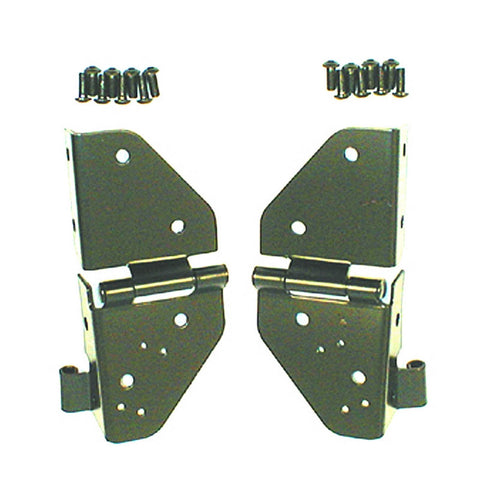 Rugged Ridge - Windshield Hinges - 76-86 Jeep CJ/87-95 Jeep Wrangler YJ (11209.01) - EZ Wheeler