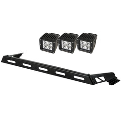 Rugged Ridge - 3 Cube LED Hood Light Bar Kit - 07-17 Jeep Wrangler JK (11232.04) - EZ Wheeler