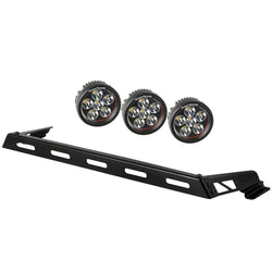 Rugged Ridge - 3 Rounded LED Hood Lights Bar Kit - 07-17 Jeep Wrangler JK (11232.06) - EZ Wheeler