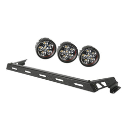 Rugged Ridge - 3 Round LED Hood Lights Bar Kit - 07-17 Jeep Wrangler (11232.13) - EZ Wheeler