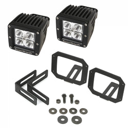 Rugged Ridge - LED Light & Mount Kit - 07-17 Jeep Wrangler JK (11232.28) - EZ Wheeler