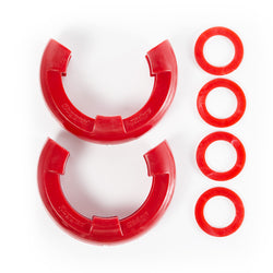 Rugged Ridge - D-Shackle Isolator Kit, Red Pair, 7/8-Inch (11235.41) - EZ Wheeler