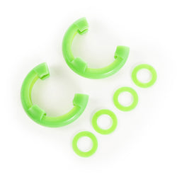 Rugged Ridge - D-Ring Isolator Kit, Green Pair, 7/8-Inch (11235.43) - EZ Wheeler