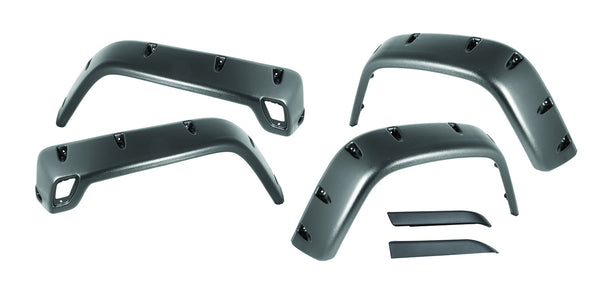 Outland - 6 Piece All Terrain Fender Flare Kit - 97-06 Jeep Wrangler TJ (391163010) - EZ Wheeler
