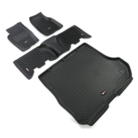 Floor Liners, Kit, Black; 93-98 Jeep Grand Cherokee ZJ - EZ Wheeler