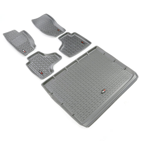 Floor Liners, Kit, Gray; 08-13 Jeep Liberty KK - EZ Wheeler