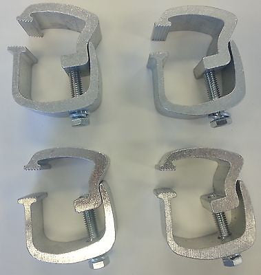 API - 4 Low Profile Rocker Style Truck Cap Topper Mounting Clamps (AC101) - EZ Wheeler