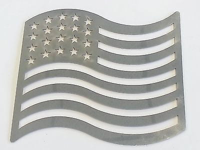 Stainless Steel Decal - American Flag - EZ Wheeler