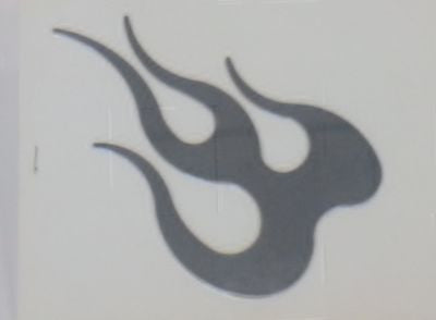 Stainless Steel Decal - Flames Emblem - EZ Wheeler