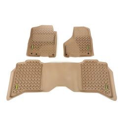 Outland - Front/Rear Floor Liner Kit - 09-15 Ram 1500/2500/3500 (398398942) - EZ Wheeler