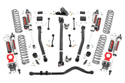 Rough Country - 3.5in Jeep Suspension Lift Kit | Stage 2 Coils & Adj. Control Arms (18-19 Wrangler JL)(65550)