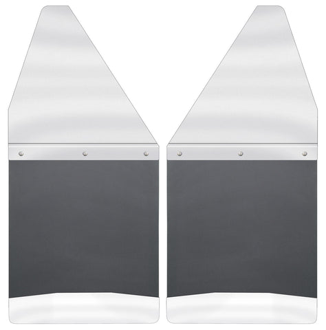 "Kick Back Mud Flaps 12"" Wide - Stainless Steel Top and Weight 17097"