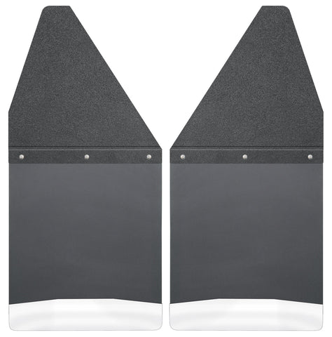 "Kick Back Mud Flaps 12"" Wide - Black Top and Stainless Steel Weight 17100"