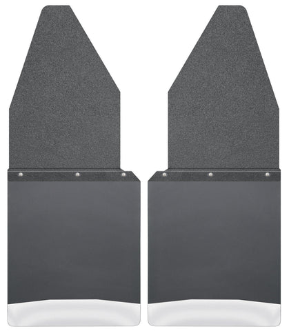 "Kick Back Mud Flaps 12"" Wide - Black Top and Stainless Steel Weight 17104"