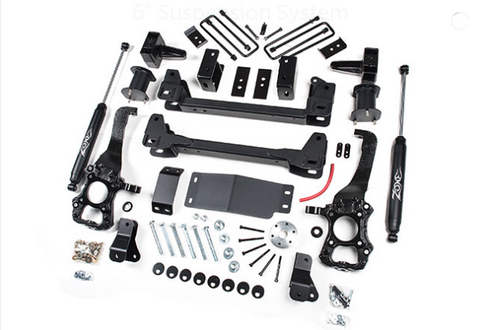 "2015-2019 Ford F-150 4WD 6"" Suspension System Zone Offroad F53N"