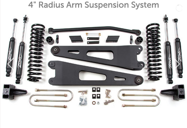"08-10 Ford F250/F350 4"" Radius Arm Suspension System Zone Offroad (F23N/F24N)"