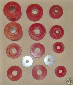 80-96 Ford 2wd 4wd truck body cab bushings F100-350 in Red - EZ Wheeler