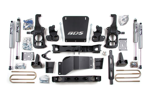 "BDS Suspension - 6-1/2"" Suspension Lift Kit - 11-17 Chevrolet/GMC 2500/3500 - EZ Wheeler"