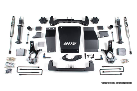 "BDS Suspension - 6"" Suspension Lift Kit - 14-17 Chevy/GMC 1500 4WD - EZ Wheeler"