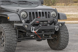 Rough Country - Jeep Full Width Front LED Winch Bumper (07-18 Wrangler JK)(10596)
