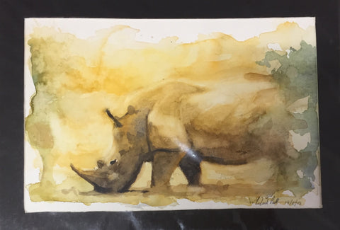 'Grazing Rhino' - Richard Pratt.