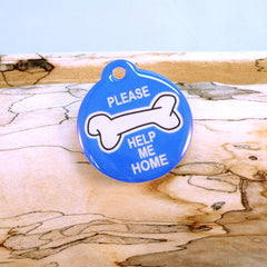My Bone Blue Pet ID Tag