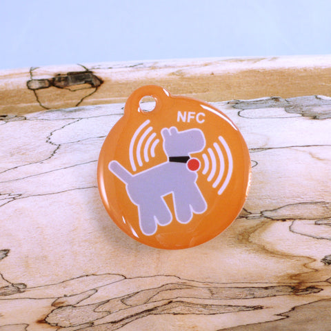 Premium Orange NFC Pet Tag